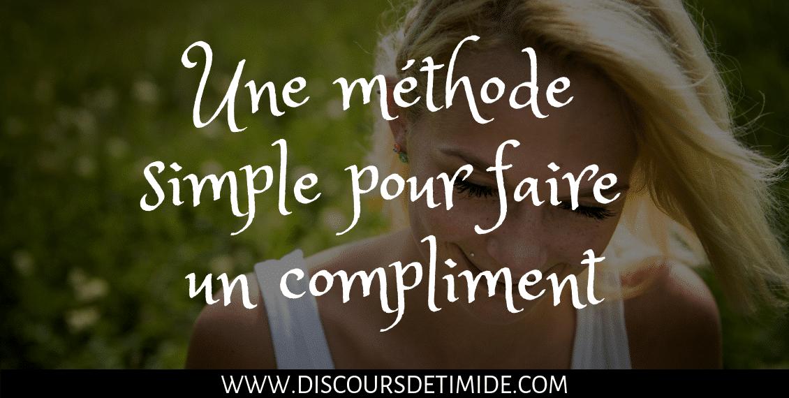 Une méthode simple pour faire un compliment