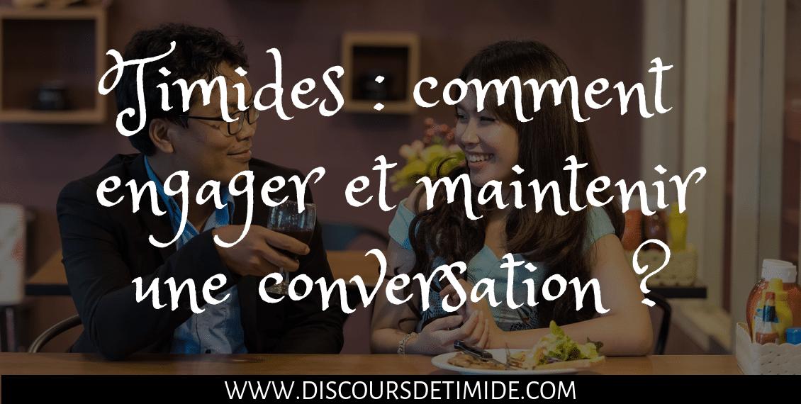 Timides : comment engager et maintenir une conversation ?