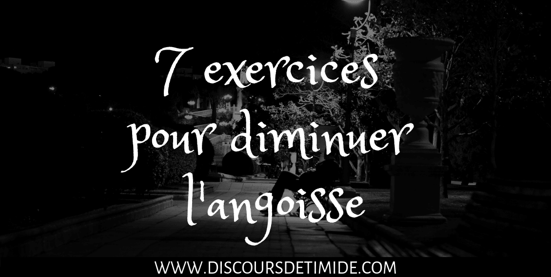 7 exercices pour diminuer l'angoisse